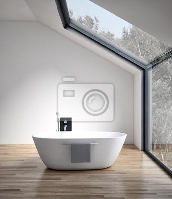 Fototapeta Nowoczesna Jasna łazienka Wnętrze Grafika Trójwymiarowa