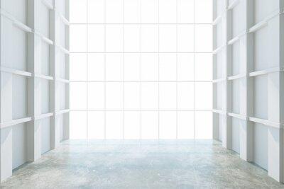 Fototapeta Nowoczesna pusty pokój z dużym oknem