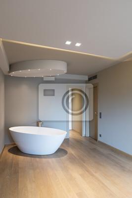 Fototapeta Nowoczesna Sypialnia Z Wanną Luksusowy Apartament