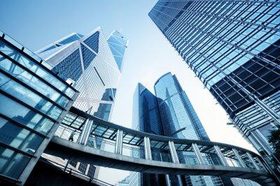 Fototapeta Nowoczesne budynki biurowe w Hong Kongu .