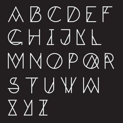 Fototapeta Nowoczesne geometryczne alfabet