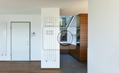 Fototapeta Nowoczesne Mieszkanie Widok Drzwi Wejściowe I Kuchnia
