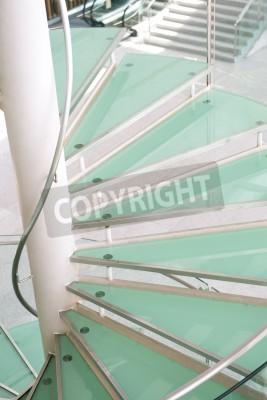 Nowoczesne Schody Szklane W Centrum Konferencyjnym Fototapeta