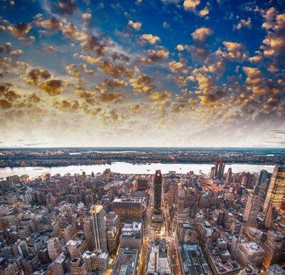 Fototapeta Nowoczesne wieżowce miasta i panoram