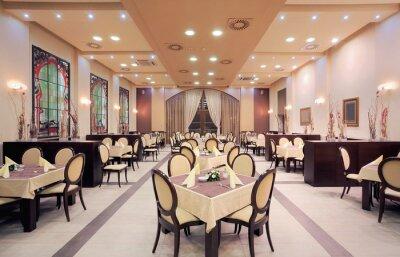 Fototapeta Nowoczesne wnętrza hotelowej restauracji