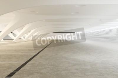 Fototapeta Nowoczesne wnętrze abstrakcyjny futurystyczny pusty