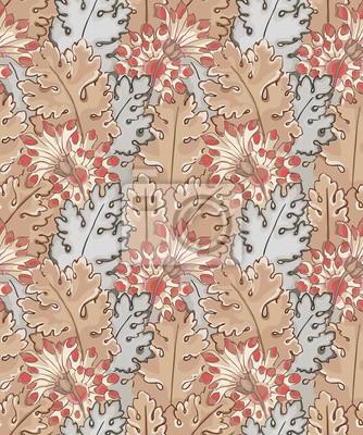 47f62d759c26e Fototapeta Nowoczesny design wzór tkaniny. Tapeta na pulpit. Tło. Kwiatowy  wzór dla projektu