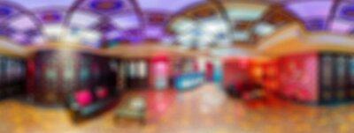 Fototapeta Nowoczesny salon kosmetyczny rozmycie tła panoramy bokeh