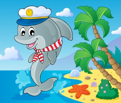 Fototapeta Obrazek z delfinów tematu 3