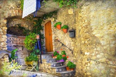 Fototapeta obrazkowych stare uliczki włoskich wiosek