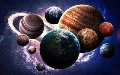 Fototapeta obrazy wysokiej rozdzielczości prezentuje planety Układu Słonecznego. Ten obraz elementy dostarczone przez NASA