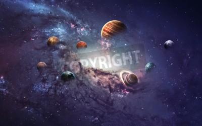 Fototapeta obrazy wysokiej rozdzielczości prezentuje tworzenia planet układu słonecznego.