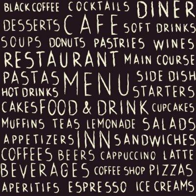 Fototapeta Odręczne restauracja związane szwu na tablicy