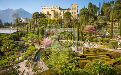 Fototapeta Ogrody Botaniczne zamku Trauttmansdorff, Merano, południowa tyrol, Włochy,