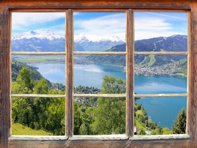 Fototapeta Okno z widokiem na Zell am See