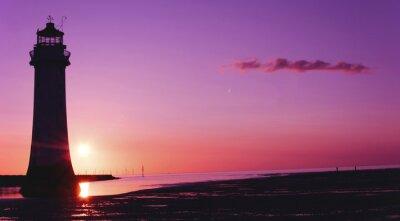 Fototapeta Okoń Rock Lighthouse, New Brighton, Wirral