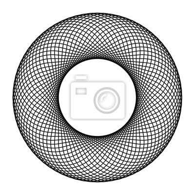 Fototapeta Okrąg Guilloch Wektora Okrąg Obramowania Ramki Czarne Okrągłe