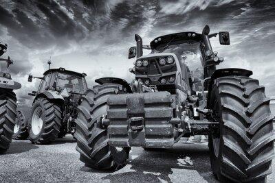 Fototapeta olbrzymie traktory rolnicze i opony