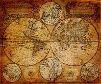 Fototapeta Old map (1746)