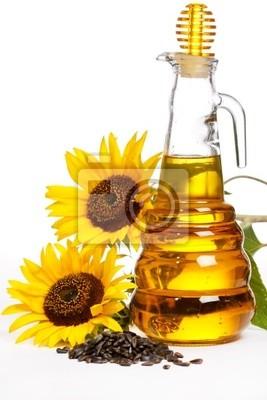 Fototapeta olej słonecznikowy