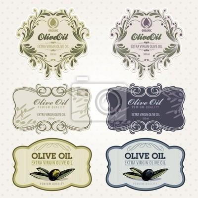 Oliwa z oliwek zestaw etykiet