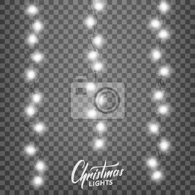 Fototapeta Oświetlenie świąteczne Realistyczne Elementy Dekoracyjne Do