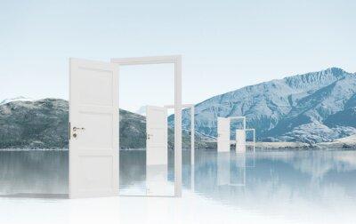 Fototapeta Otwarte drzwi w polu