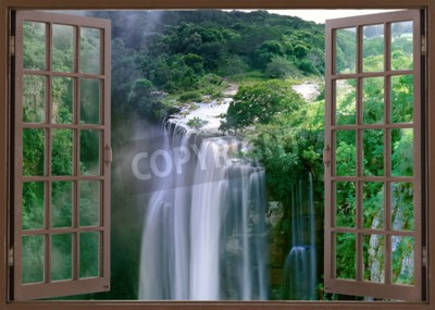 Fototapeta Otwarte okno do spektakularnych wodospadów Magwa w pobliżu prowincji Mbotyi Cape South Africa