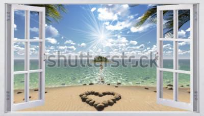 Fototapeta Otwarte okno z widokiem na morze