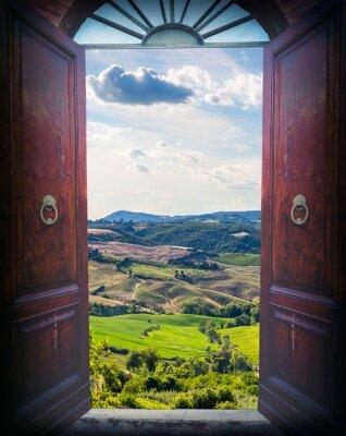 Fototapeta Otwórz drzwi i krajobrazu