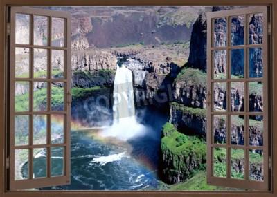 Fototapeta Otwórz okno widok na wodospad