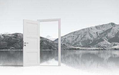 Fototapeta Otworzył drzwi gdzieś