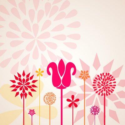 Fototapeta ozdobne kwiaty