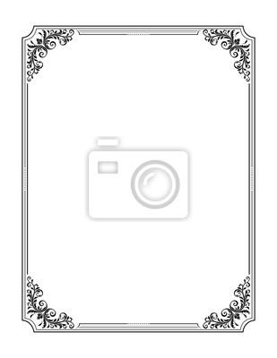 2a63448f31160 Fototapeta Ozdobny prostokątna czarna ramka