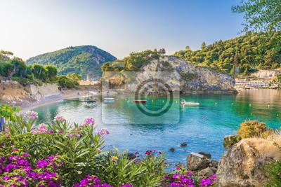 Fototapeta Paleokastritsa zatoka na Corfu wyspie, Ionian archipelag, Grecja