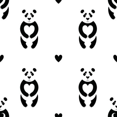 Fototapeta Panda wzór 6