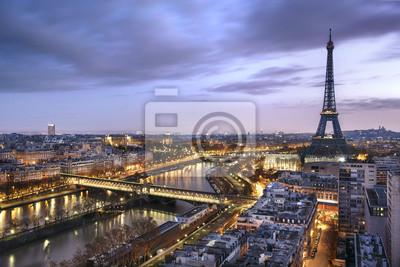 Fototapeta Panorama de la Ville de Paris avec la Tour Eiffel