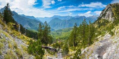 Fototapeta Panorama gór na północy Albanii