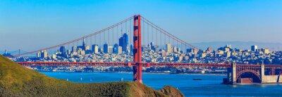 Fototapeta Panorama mostu Golden Gate i panoramę San Francisco