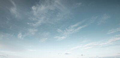 Fototapeta Panorama of blue sky with cirrus clouds