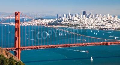 Fototapeta Panorama San Francisco z zatoki San Francisco