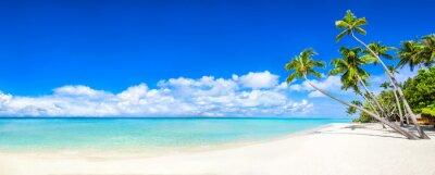 Fototapeta Panorama Strand z Meer i Palmen