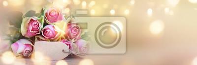 Fototapeta panorama Tło z róż