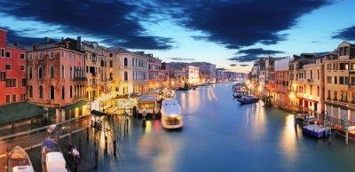 Fototapeta Panorama Wenecji od mostu Rialto