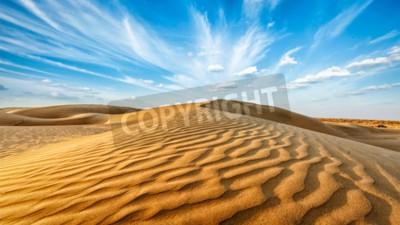 Fototapeta Panorama wydmy pustyni Thar. Sam wydmy piaskowe, Rajasthan, Indie