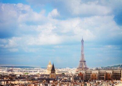 Fototapeta Panoramę Paryża z wieży Eiffla