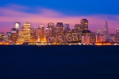 Fototapeta Panoramę San Francisco w nocy