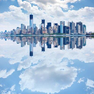 Fototapeta Panoramiczny obraz dolnym Manhattanie