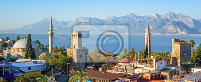 Fototapeta Panoramiczny widok Antalya Stary miasteczko, Turcja