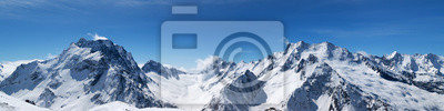 Fototapeta Panoramiczny widok ośnieżone szczyty górskie
